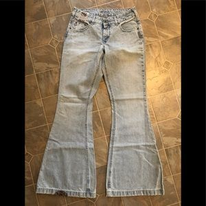 Brand new Silver Pica bell bottom jeans